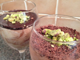 Marbled White and Dark Chocolate Mousse