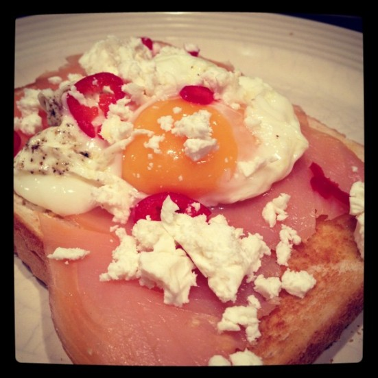 Smoked Salmon and Poached Egg on toast